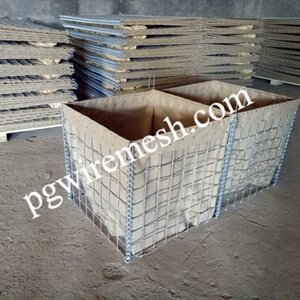 Blast Barrier for military use or Gabion Retaining Wall for flood control