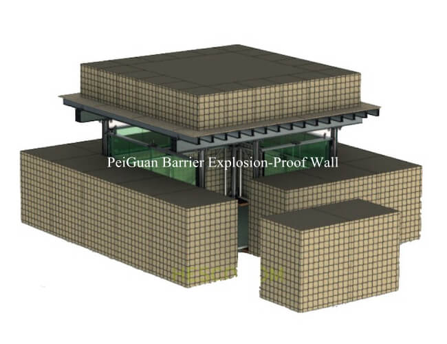 China military barrier explosion-proof wall/ explosion proof cage Anping manufacturer(factory)