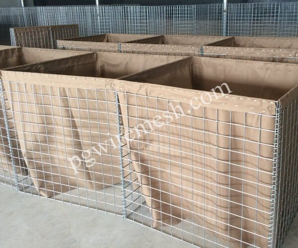 MIL 3 Hesco Barrier 1m height×1m width×10m length Blast Wall