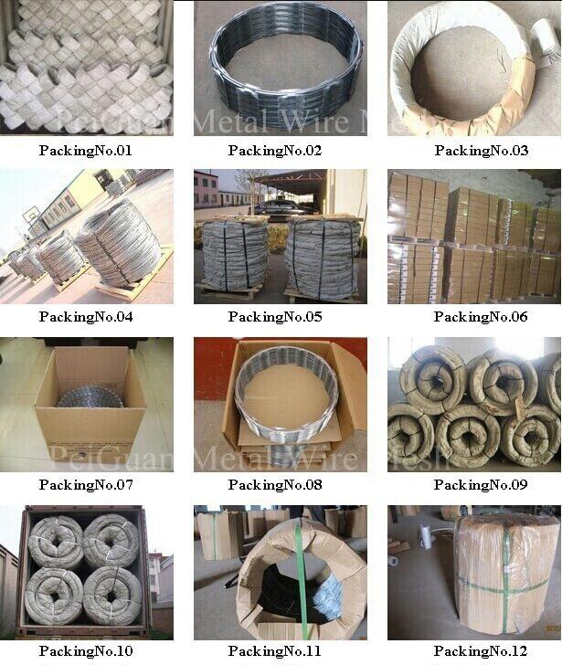 Concertina Razor Wire Packing Plan