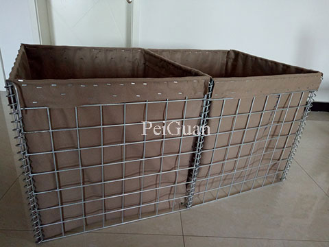 Hesco barriers, earth-filled sand wall China factory