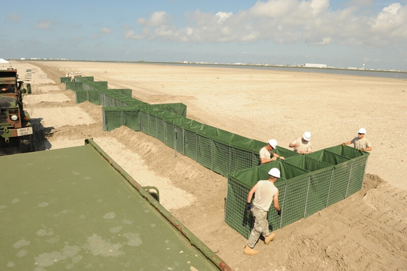 How to avoid flood water flow past hesco barrier like in Burlington, lowa? Choose Chinese hesco flood barriers00003