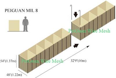 Hesco Bastion Barrier MIL8