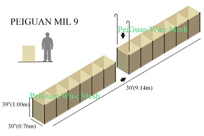 Hesco Bastion Barrier MIL9