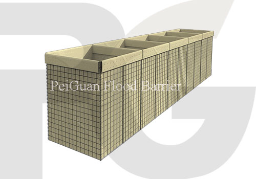 Hesco Flood Barrier or Earth-filled Barrier for Flood Control Solution China manufacturer