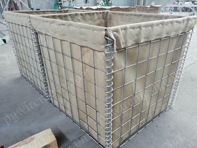 Folding defensive barrier filled with sand blast barrier wall for protection against bomb China manufacturer/factory