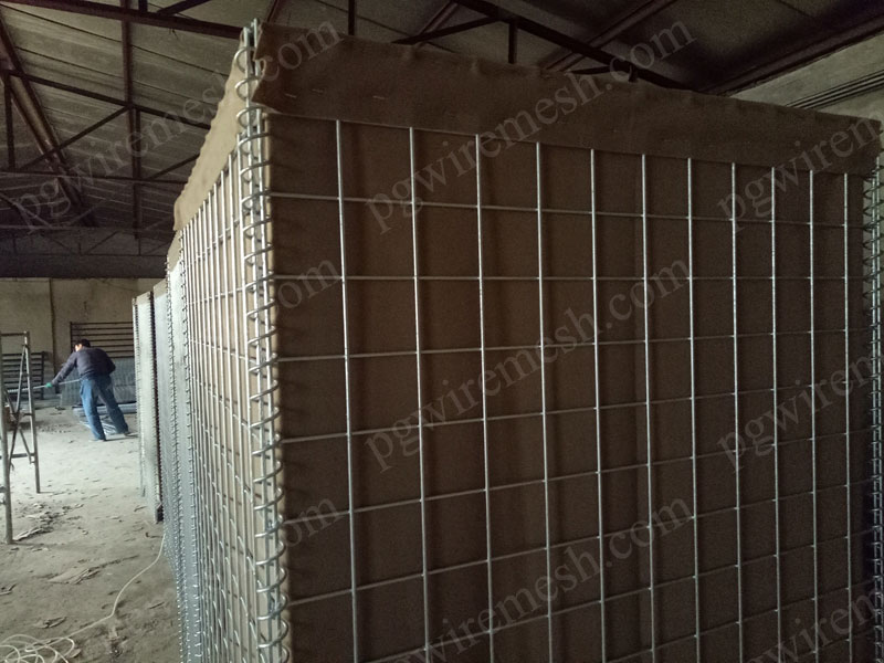 Sand Filled Hesco Barrier Secure Perimeter Barrier Wall China Factory